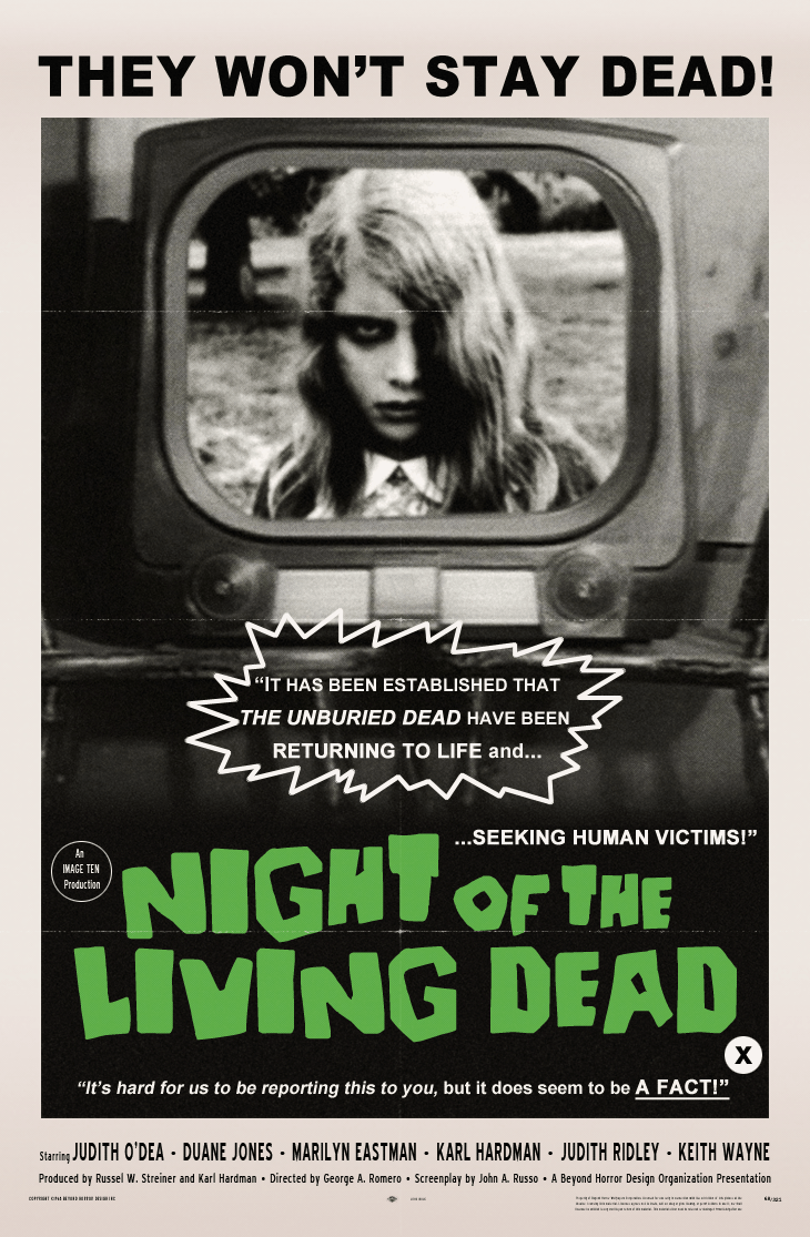 night of the living dead 1968 poster beyond diário da aninha