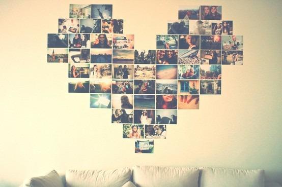 Decora o cora o com fotos na parede di rio da aninha for Mural dos sonhos o segredo