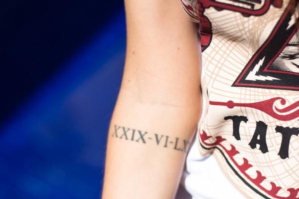 tatuagem números romanos
