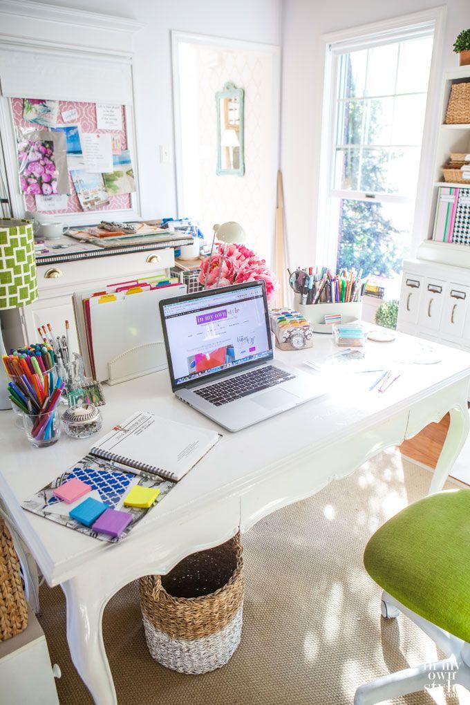 Decora o mesa de estudos di rio da aninha for Wallpaper home office ideas