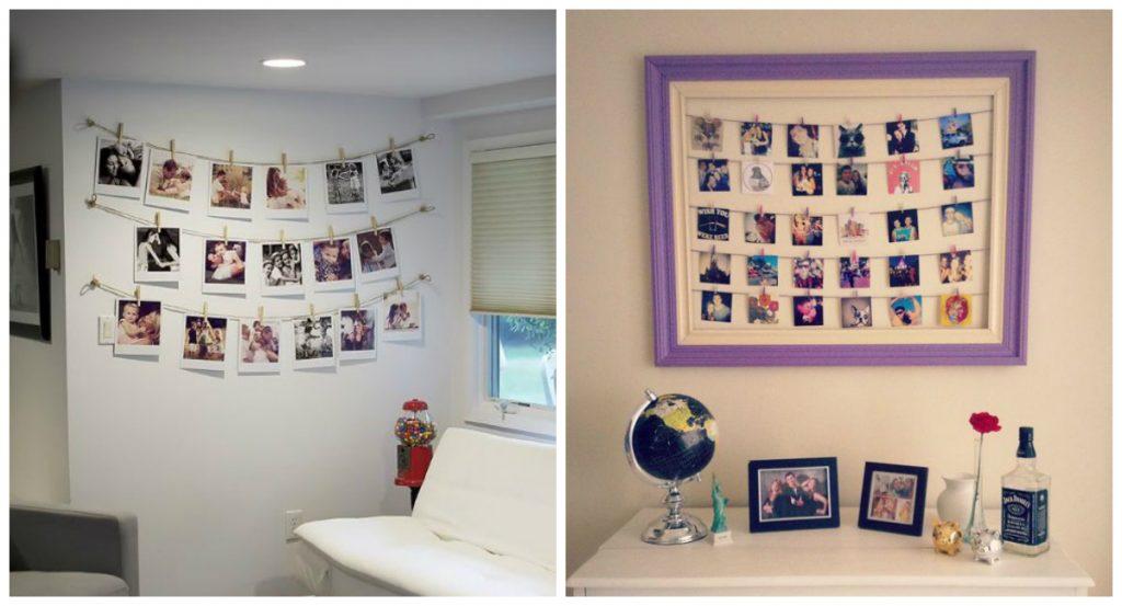 decoração-com-quadros-varal-de-fotos-na-parede-decorar