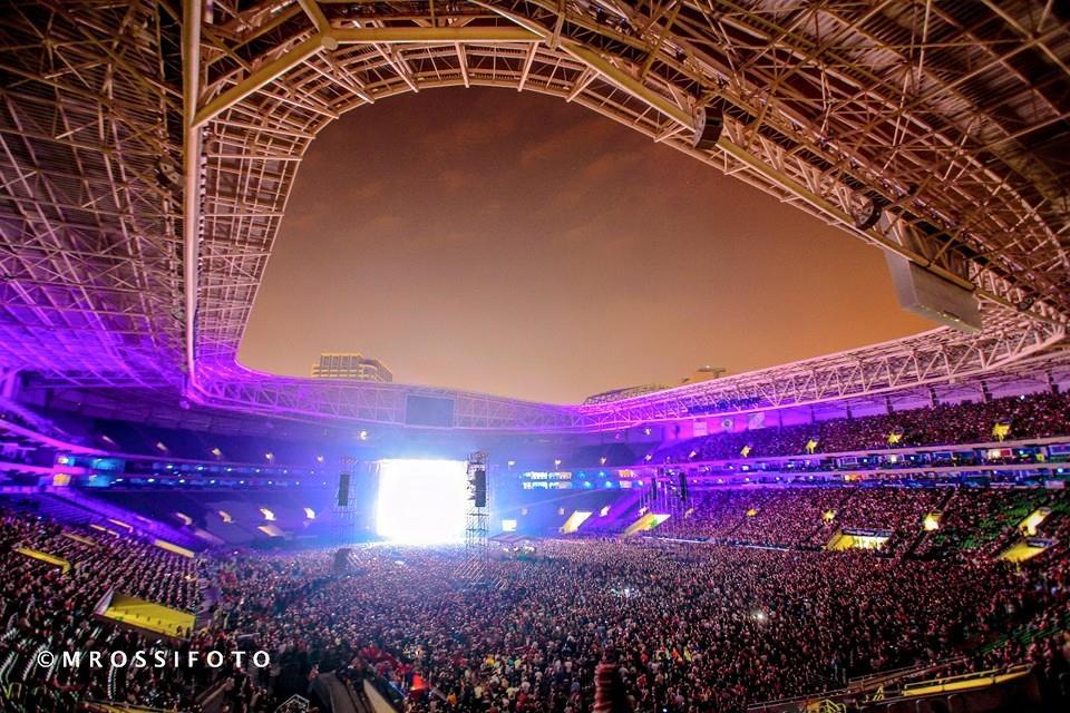 50 mil pessoas no estádio aguardando o Show do David Gilmour no Brasil - Foto: Mercury Concerts
