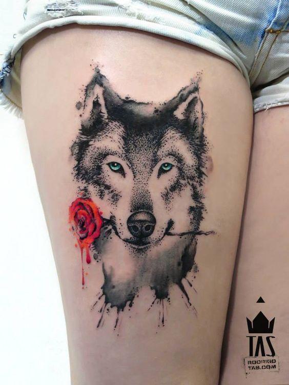 Inspiração-desenho-tatuagem-de-lobo-2
