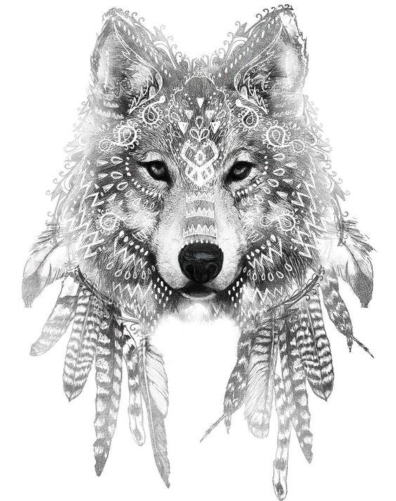 Inspiração-desenho-tatuagem-de-lobo-4
