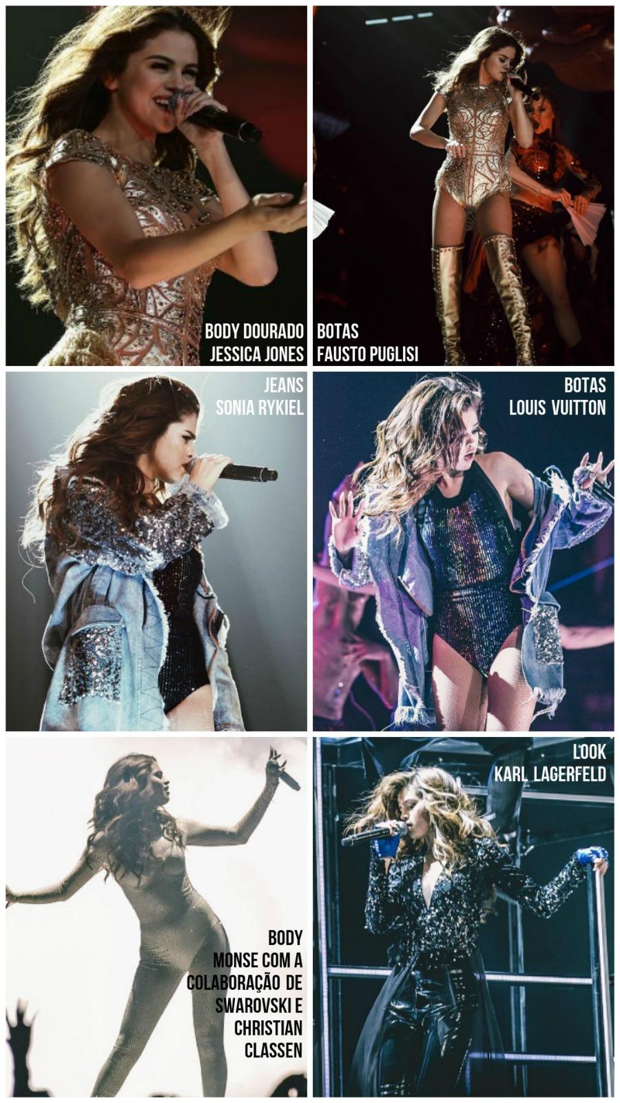 selena gomez tour brasil revival tour REVIVAL TOUR EM LOOKS