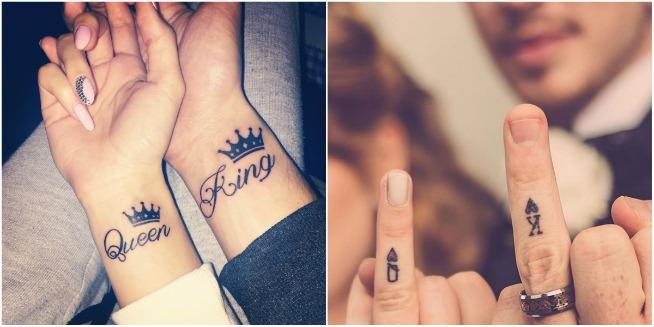 tatuagens de casal inglês que se completam