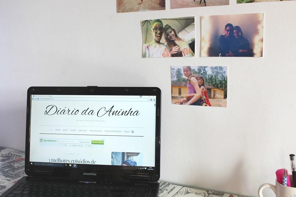 Decoração com fotos na parede