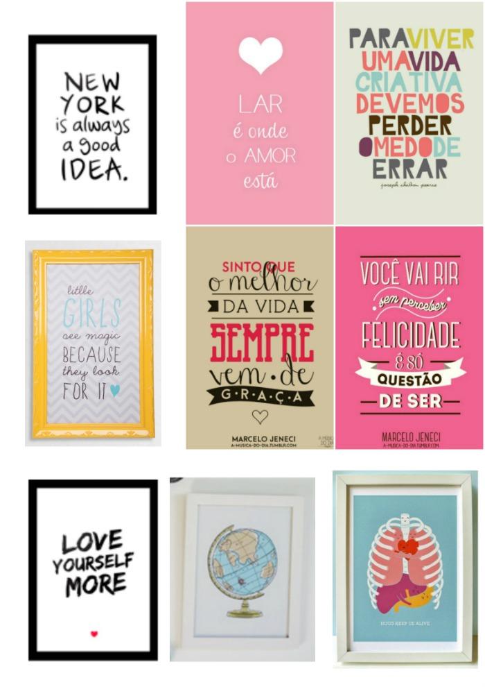 32a793675 Como fazer quadros decorativos - frases e imagens criativas