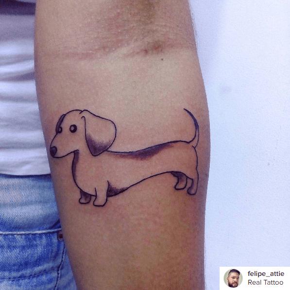 Cuidados com a tatuagem Tatuagem feita por Felipe Attie e postada recentemente no Instagram FOTO: Reprodução