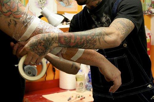 tatuagem protegida