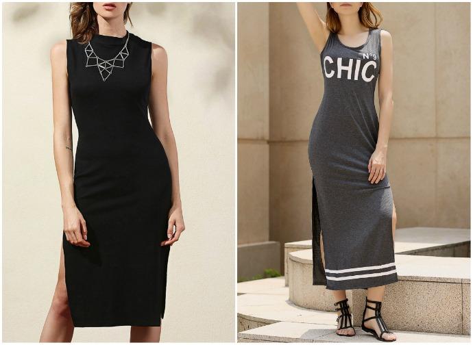 vestidos com duas fendas