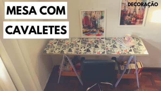 mesa de cavaletes
