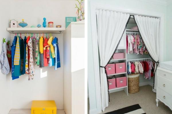 decoração de quarto infantil closet