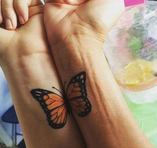 tatuagem-mãe-e-filhas-borboleta
