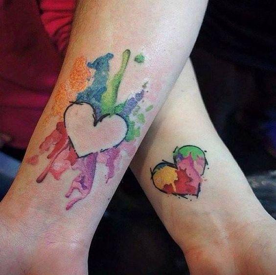 tatuagem-mãe-e-filhas-coração