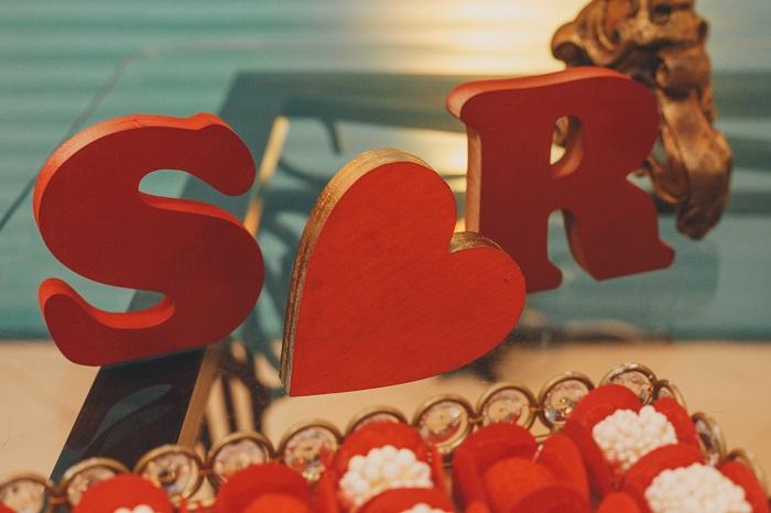 decoração chá de panela letras dos noivos