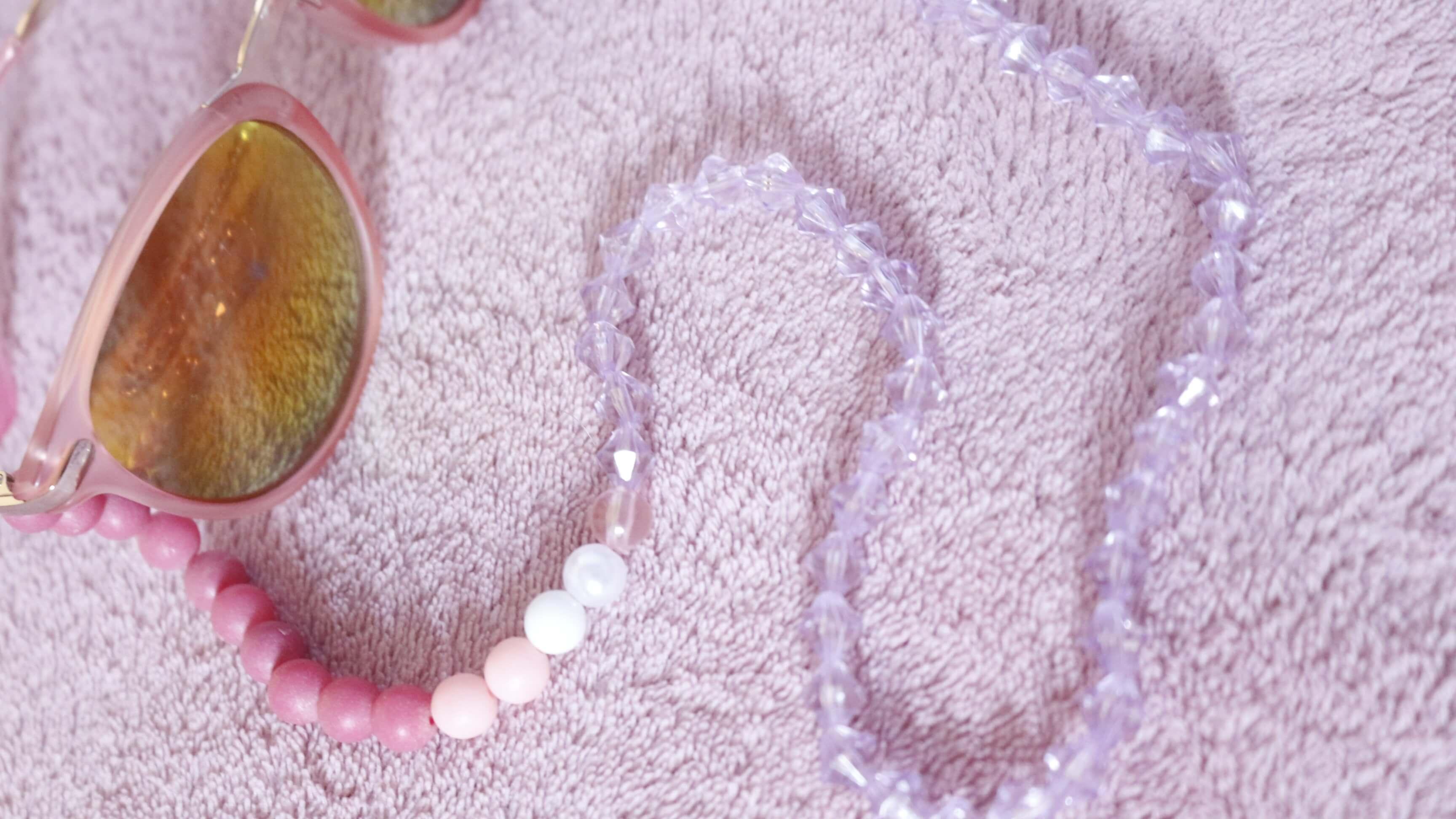 cordinha de oculos cordao para oculos rosa como fazer