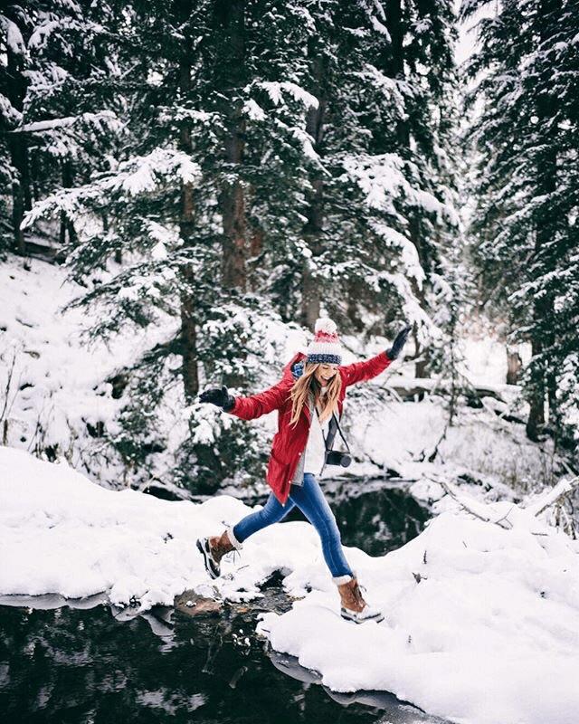 Fotos na neve com paisagens incríveis
