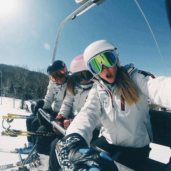 Fotos na neve com a família
