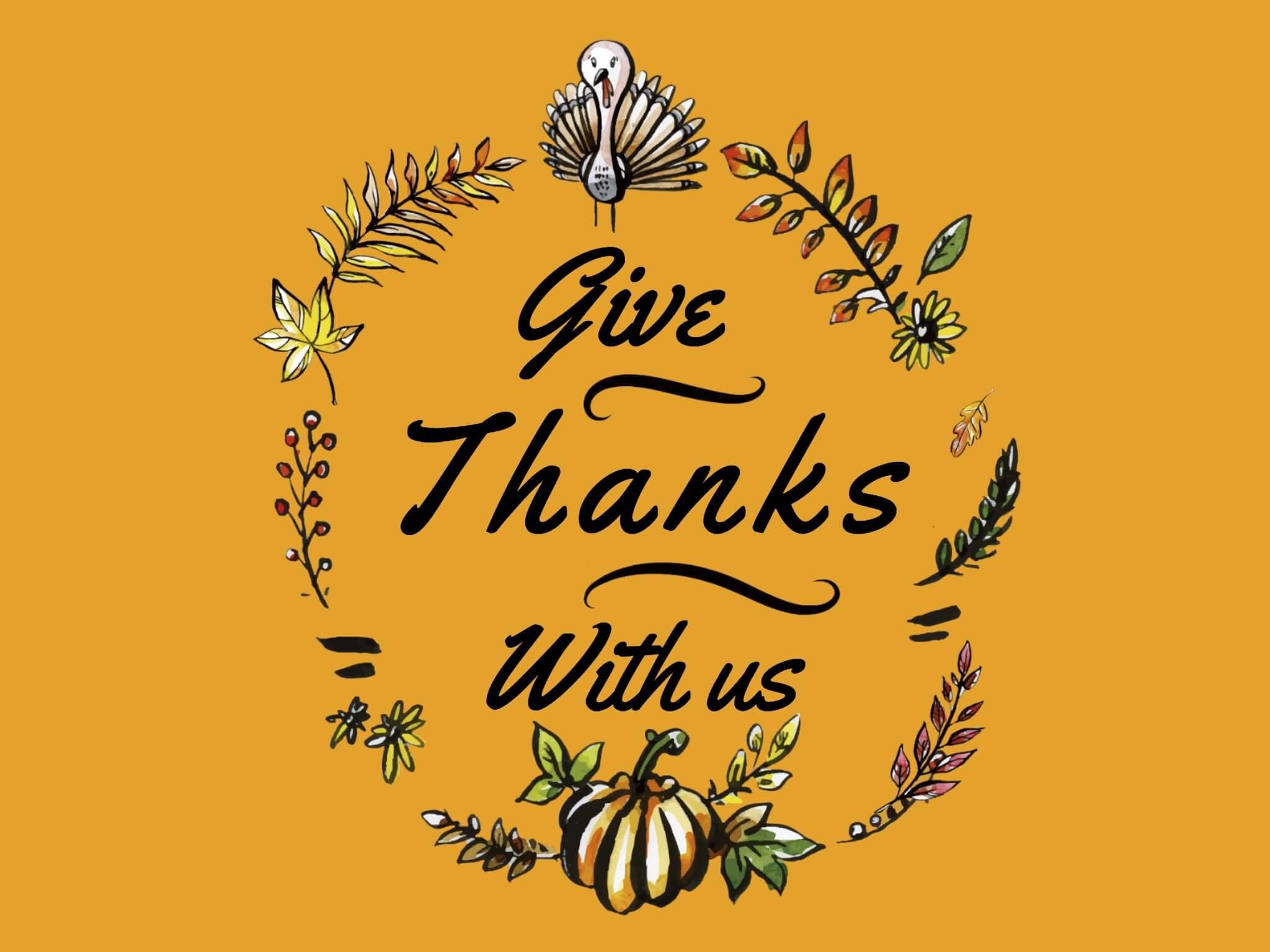 cartao de dia de ação de graças