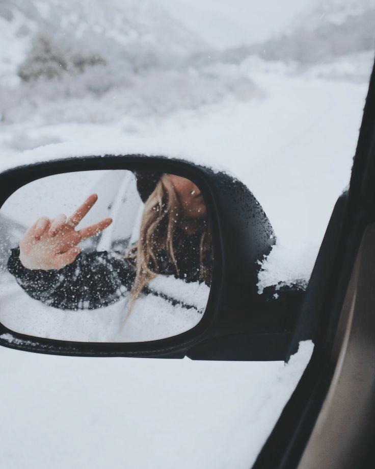 Fotos na neve viajando