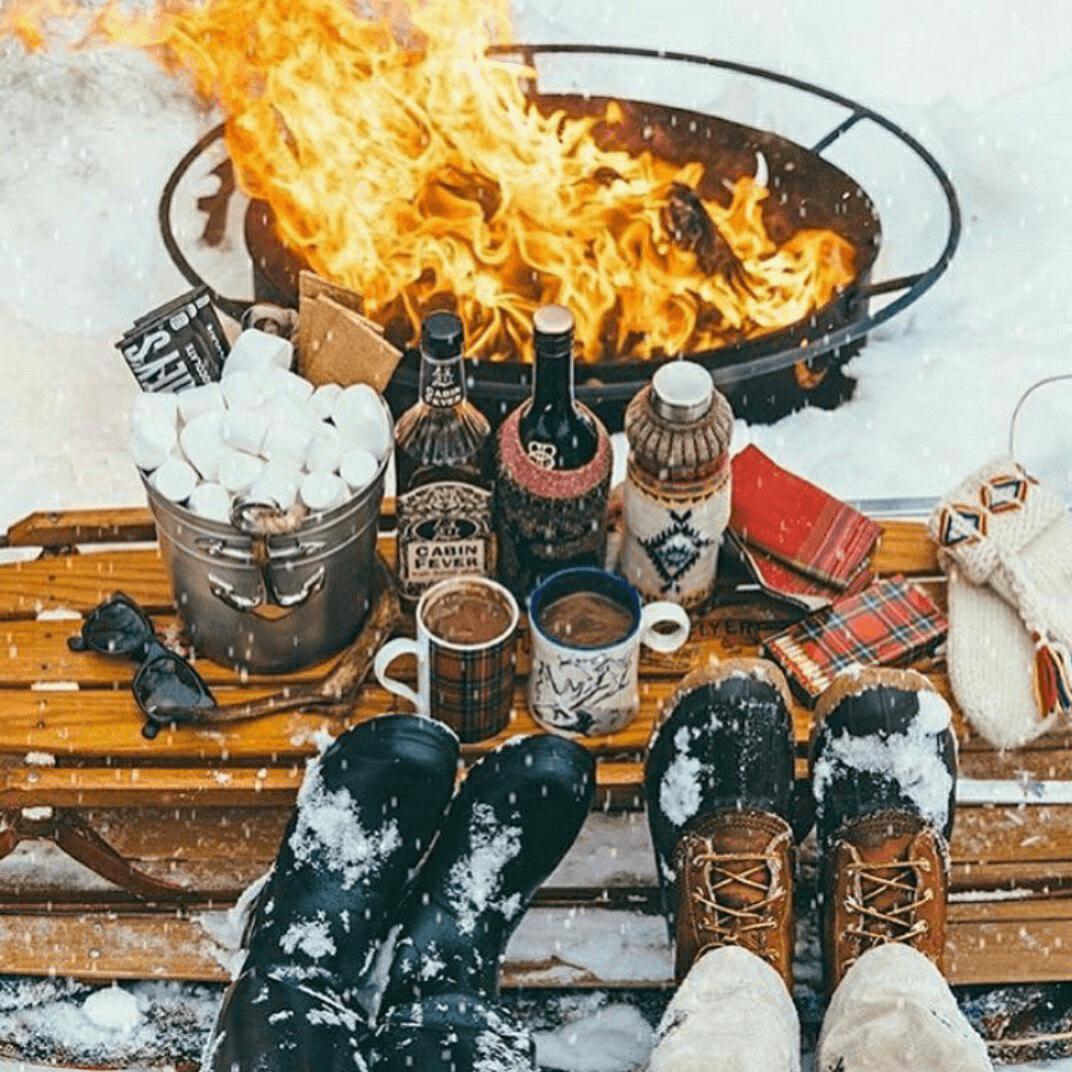 Fotos na neve em restaurantes