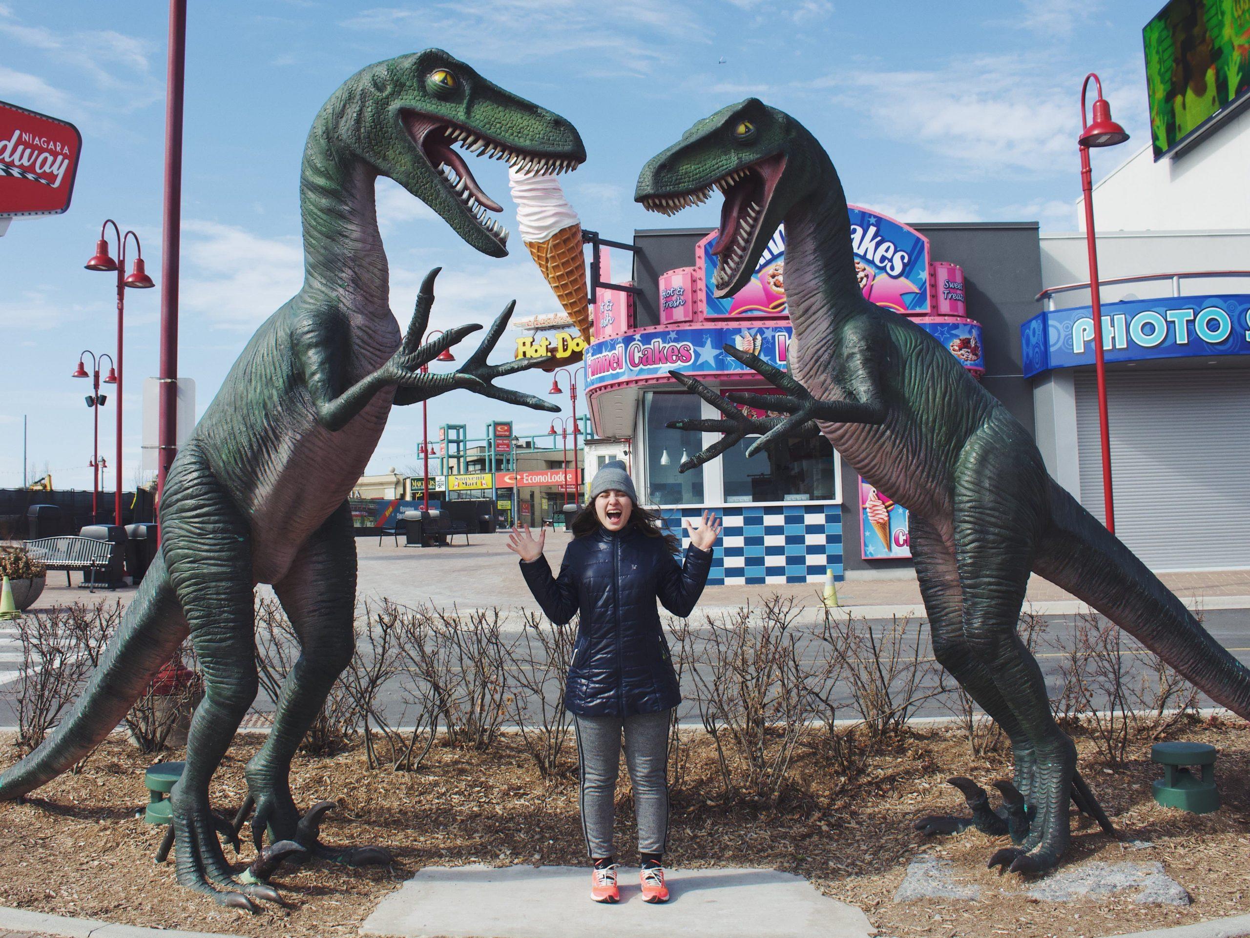 dinossauro em clifton hills canada