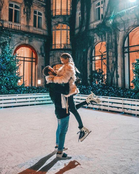 fotos na neve com namorado