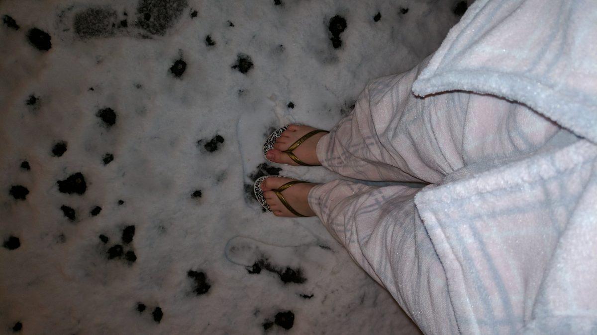 mala de intercambio no inverno vale colocar chinelo?