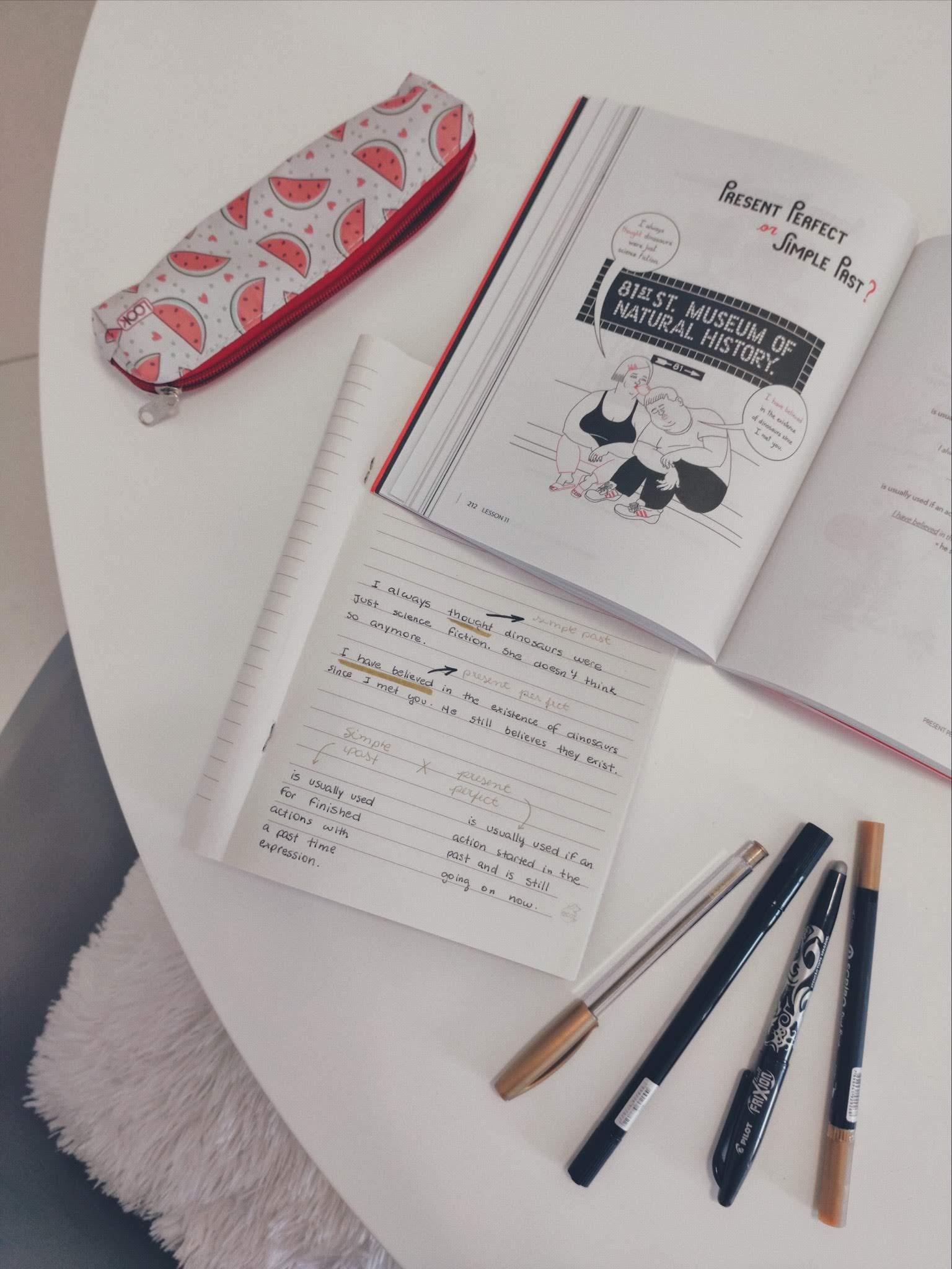 rotina de estudo inglês
