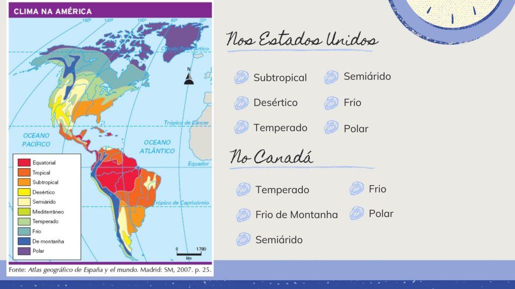 clima nos estados unidos e canada