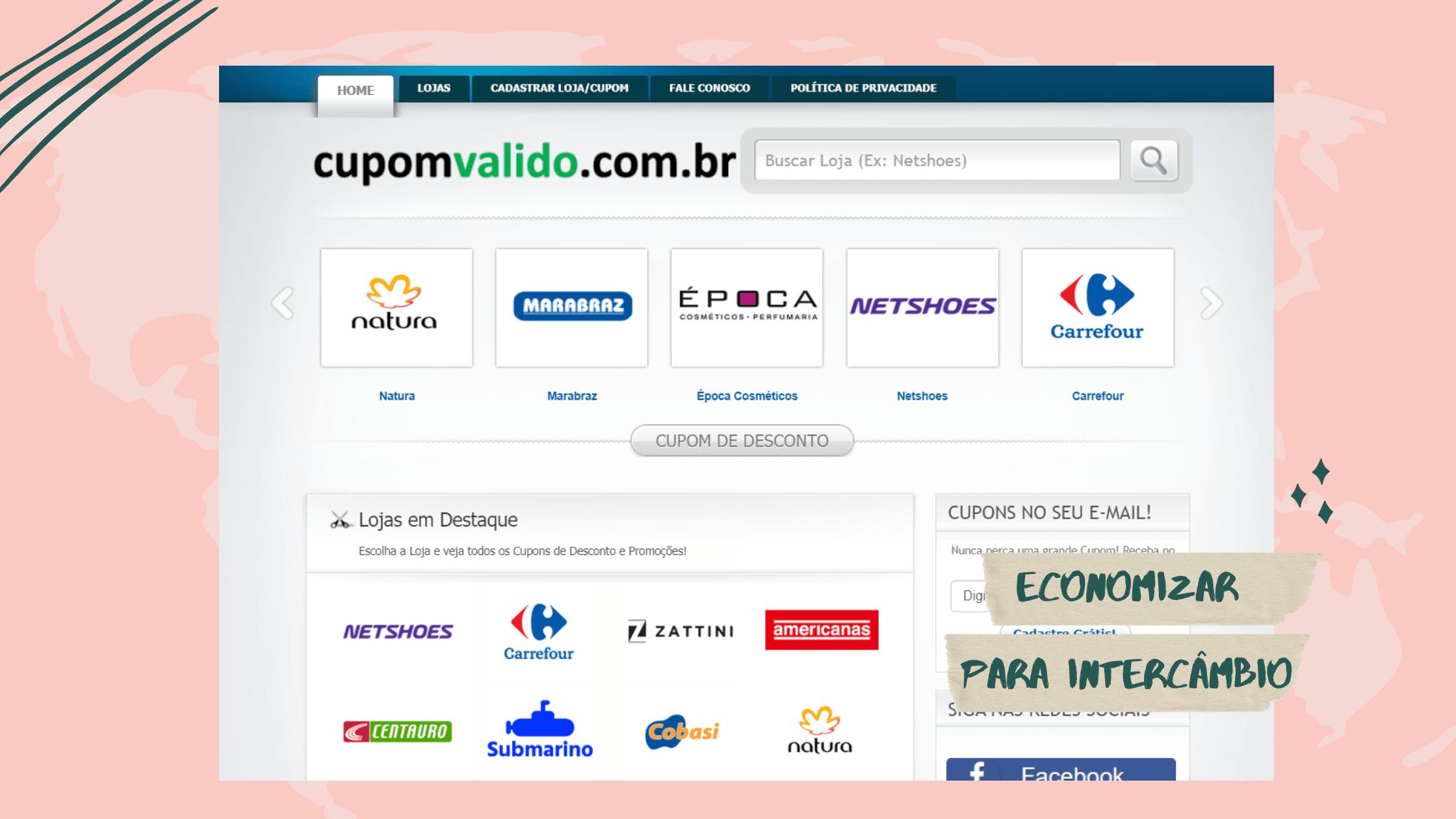 cupom-valido-economizar-online-intercambio