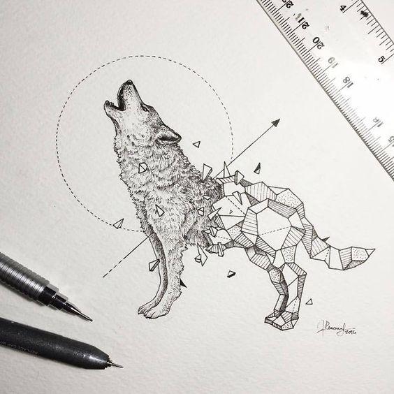 Inspiracao Desenho Tatuagem De Lobo 3 Diario Da Aninha